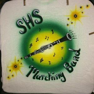 CLARINET Airbrushed T-shirt Custom Made to Order